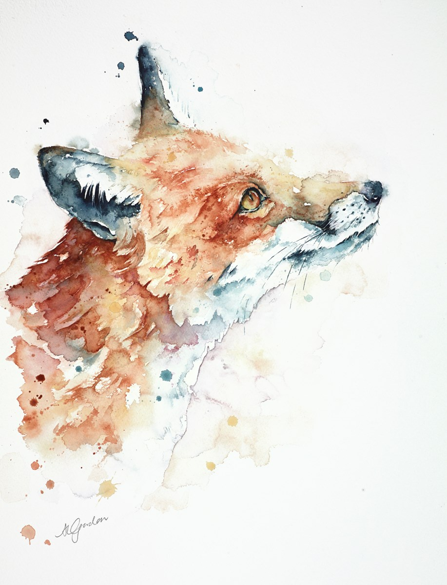 Sky-Gazing Fox by amanda gordon -  sized 15x20 inches. Available from Whitewall Galleries